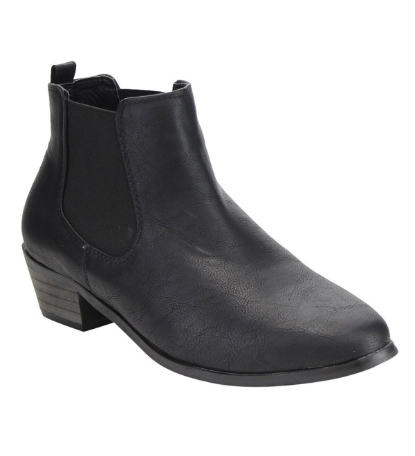 Liliana Womens Chelsea Stacked Bootie