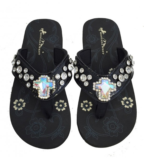 Montana West Womens Straps Crystal