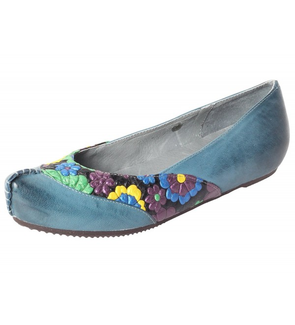 Mordenmiss Womens Floral Casual Slip Ons