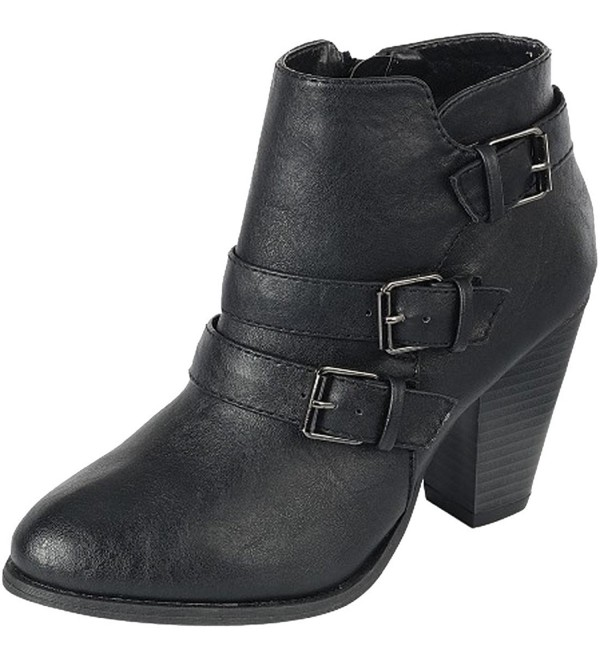 Cambridge select Womens Buckle Booties