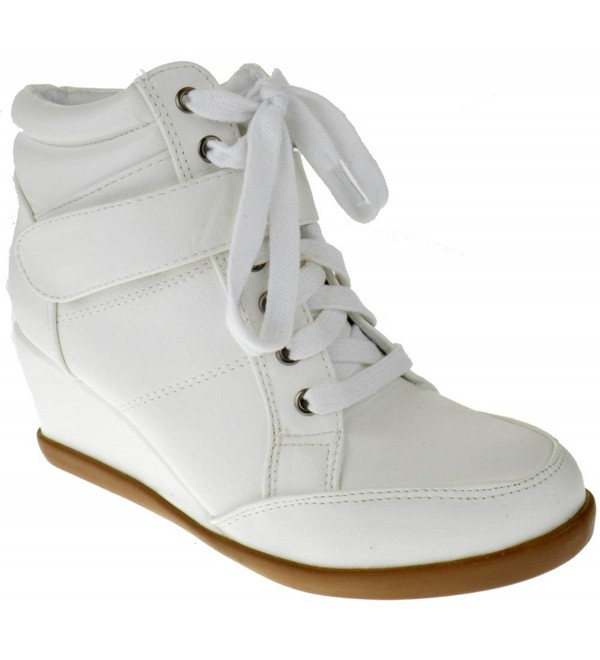 Peggy Womens Wedge Sneaker White
