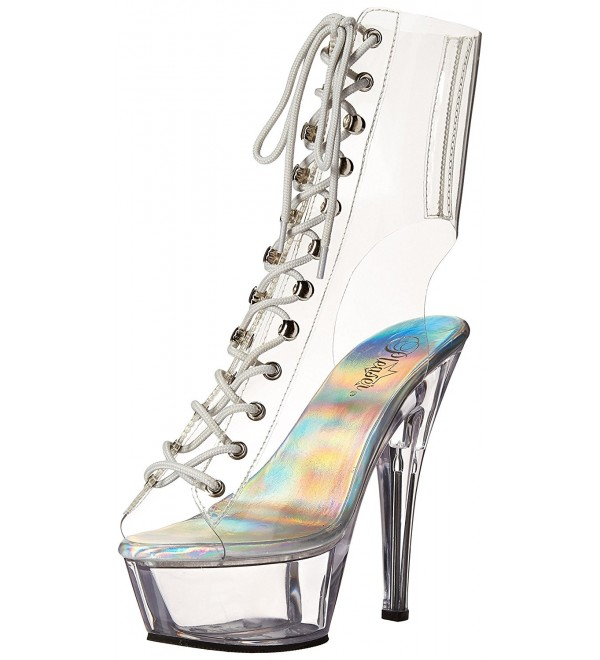 Pleaser Womens Kiss1016c Boot Clear