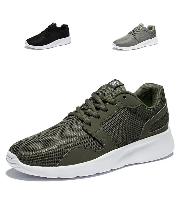 Lightweight Walking Sneakers Flexible Dark Green