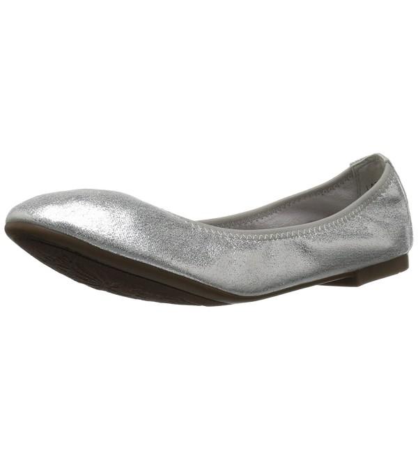 DREAM PAIRS Womens Ballet Silver