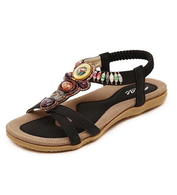 Zicac Womens Bohemia Sandals Beaded