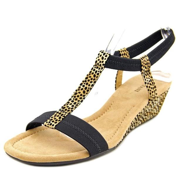 Alfani Voyage Wedge Sandals Leopardblack