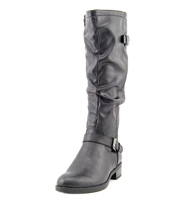 White Mountain Chip Leather Mid Calf