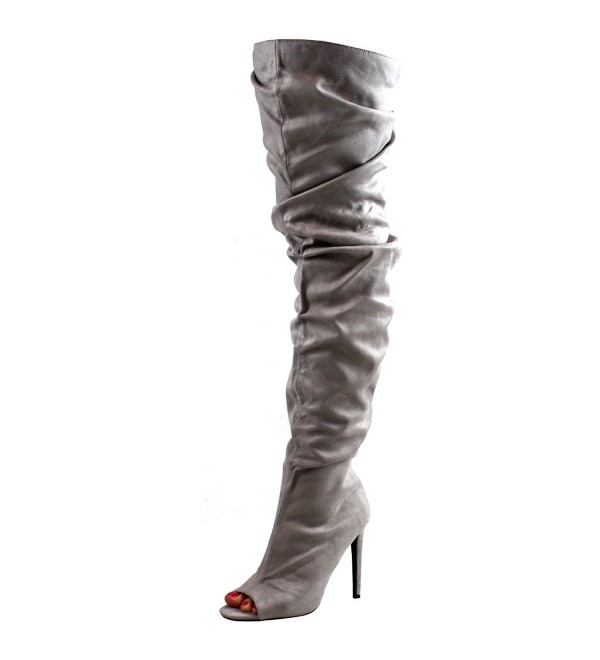 Womens Fitted Stiletto Slouch Fashion