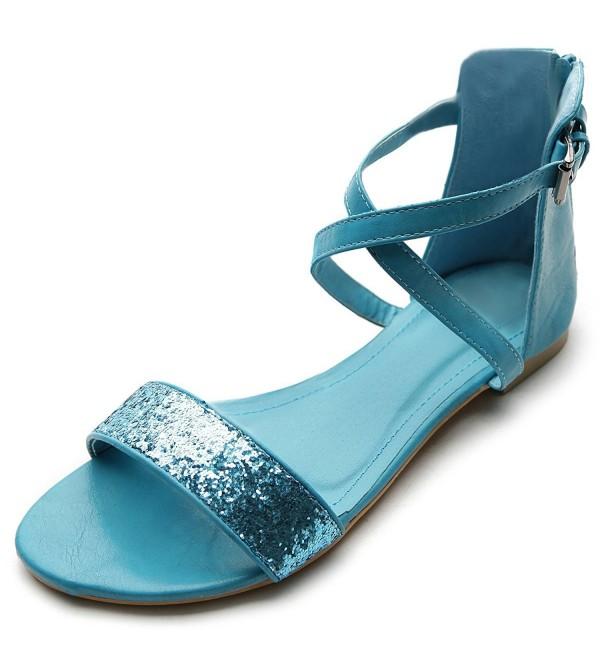 Ollio Womens Zipper Buckle Turquoise