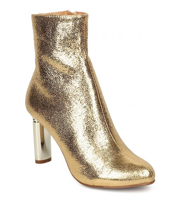 CAPE ROBBIN Metallic Foiled Bootie