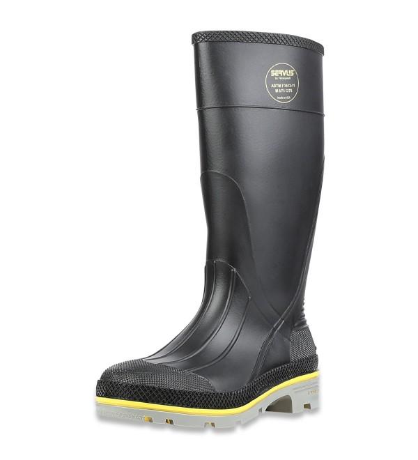 Servus Chemical Resistant Steel Boots Black