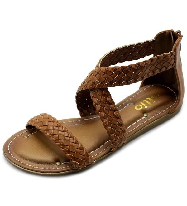 Ollio Womens Cross Braided Sandal