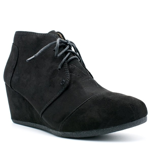 CITY CLASSIFIED Womens Wedges Black