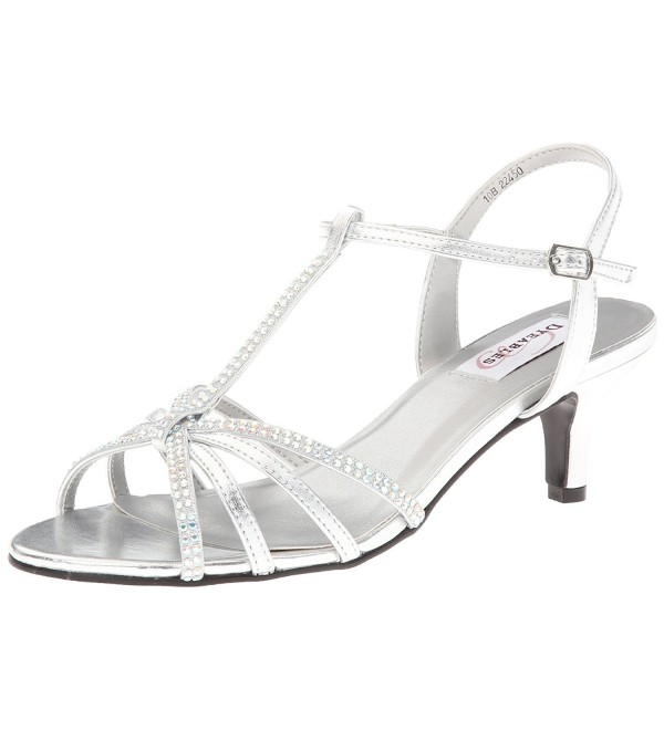 Dyeables Womens Lindsey Sandal Metallic