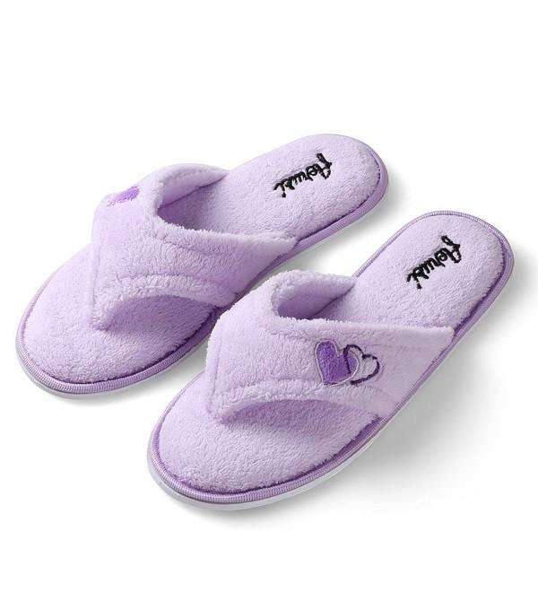 78aab9f59 Women s Comfort Plush Lining Memory Foam Spa Thong Flip Flops House ...