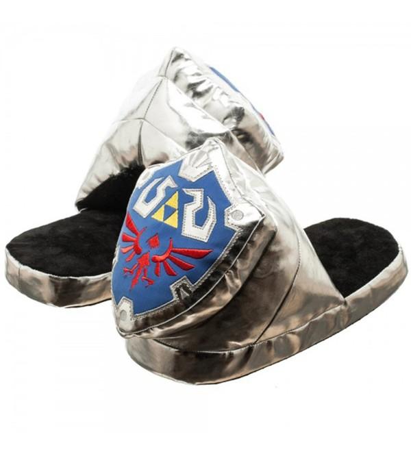 Nintendo Sheild Unisex Silver Slippers