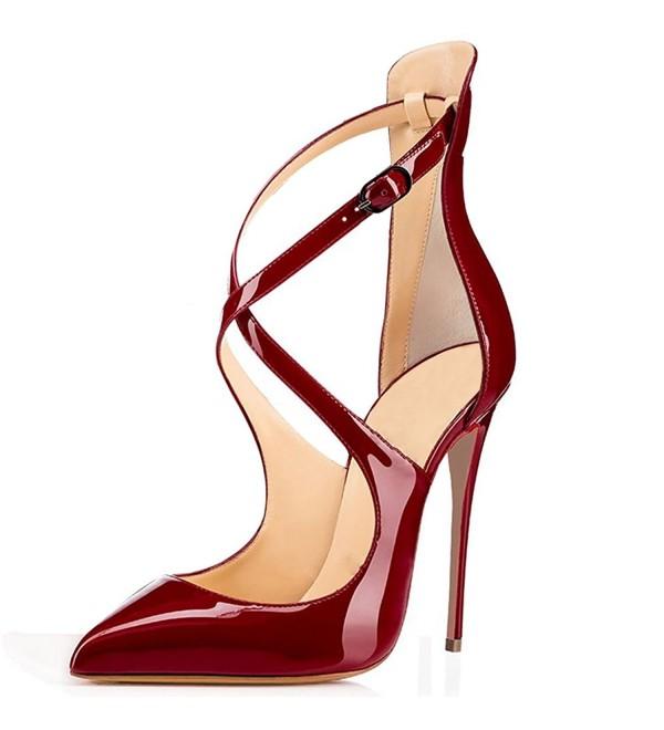 Soireelady Womens Crisscross Strappy Stilettos