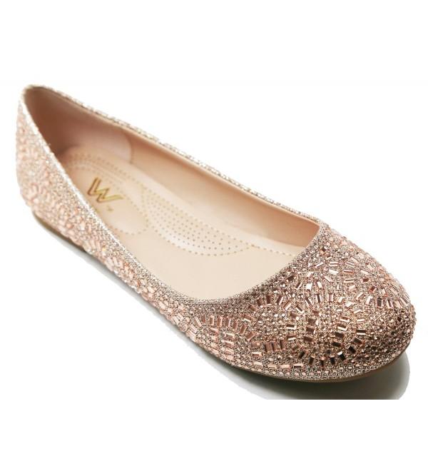 Walstar Casual Rhinestone Ballet Comfort