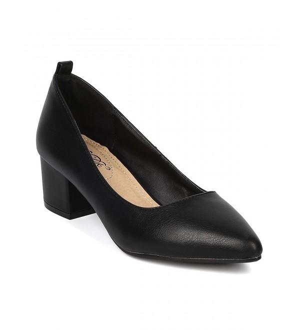 DbDk Women Leatherette Chunky Heel