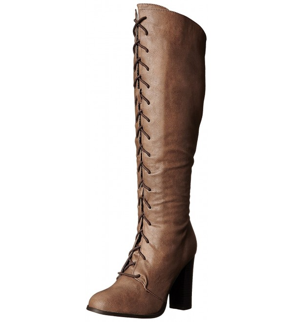 Qupid Womens Reborn Western Taupe