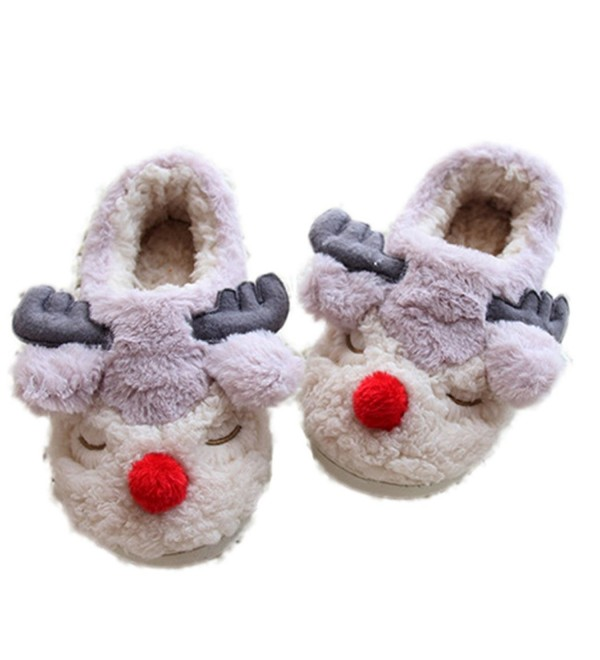 MiYang Winter Reindeer Cartoon Slippers