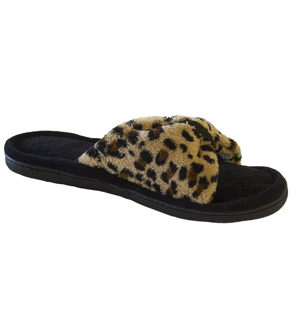 Isotoner Womens Microterry Slipper Cheetah