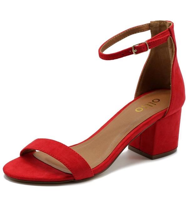 Ollio Womens Chunky Heeled Sandals