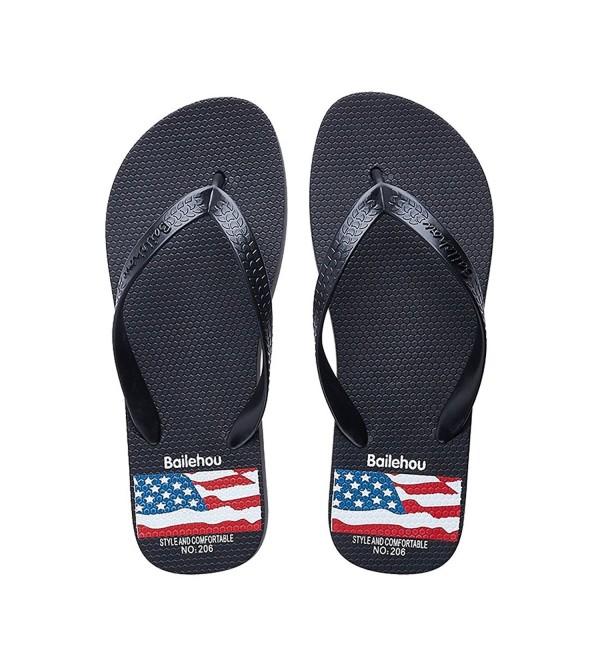 d6c348af709b Men s Sandals Flip Flops Black Beach Slippers Light Weight Flip ...