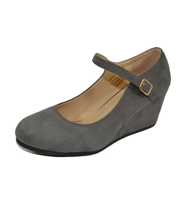 Haphop Womens Almond Wedge Shoes