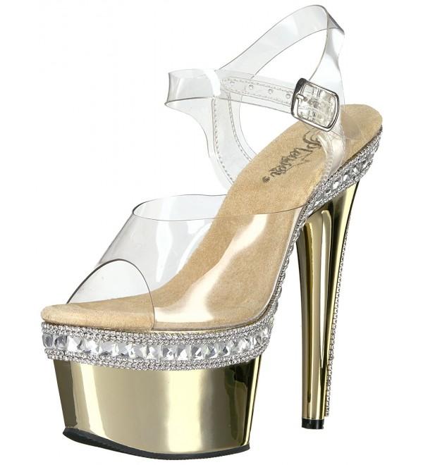 Pleaser Womens Ado708rs 1 Platform Sandal