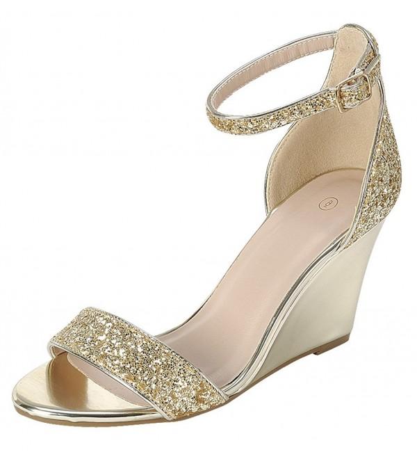 Cambridge Select Womens Strappy Glitter