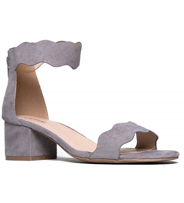 Suede Open Ankle Strap Sandal