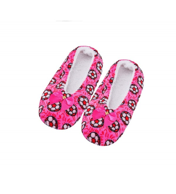 FRALOSHA Womens Slippers Footies Fluffy