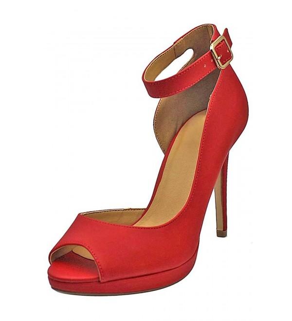 Peep Womens Heels Ankle Strap