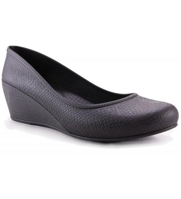bd27967de3 Women's Wedge Heels - Comfortable - Caren - Black - CK188OCSWH4