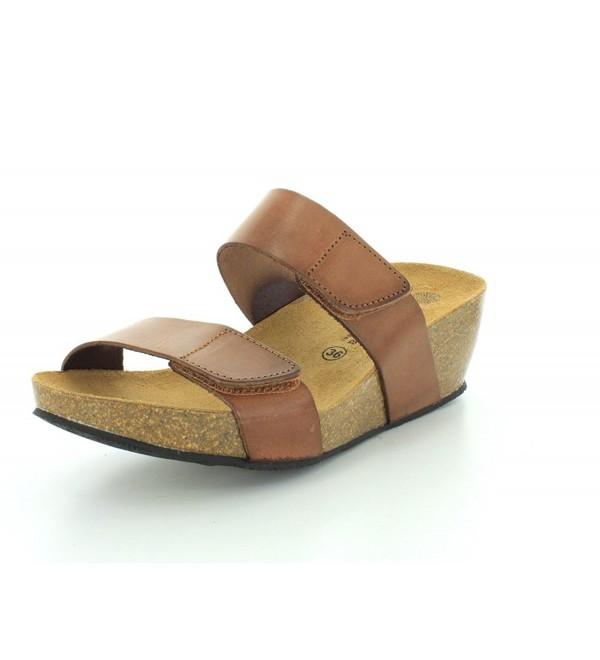 Eric Michael Womens Brown Sandal