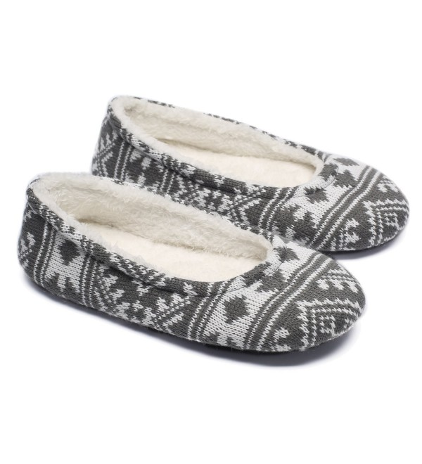 Ofoot Cashmere Ballerina Slippers Snowflake