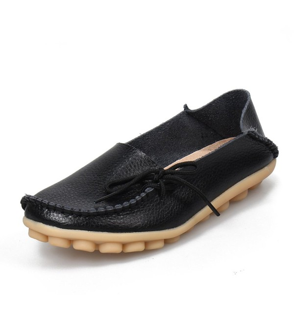 SUNROLAN Leather Cowhide Lace up Slipper