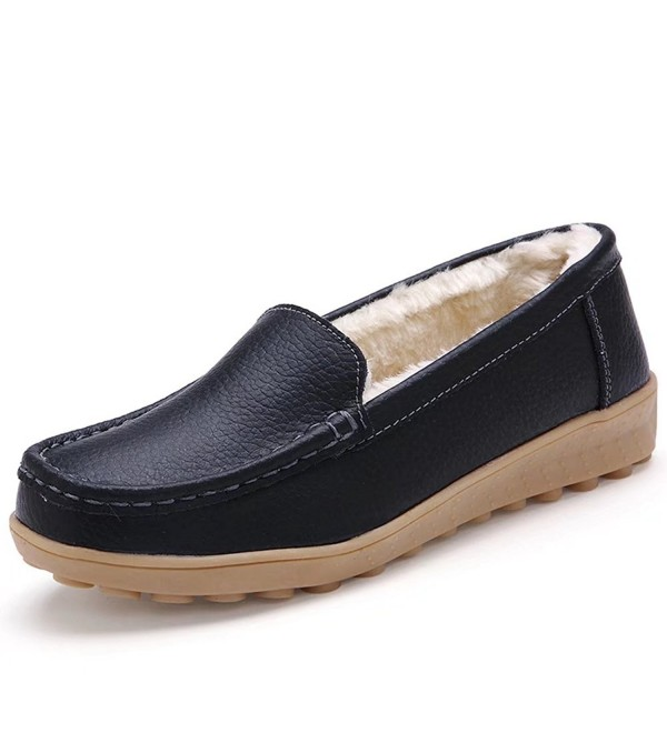 CIOR Leather Casual Moccasin Slippers