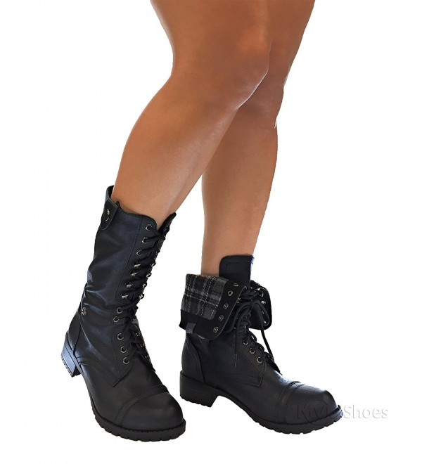 MVE Shoes Womens Lace up Mid Calf