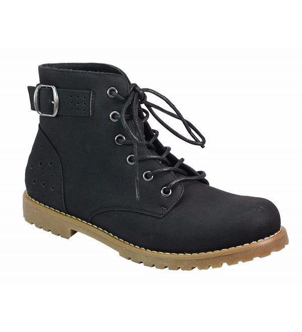 Womens Casual Lace Up Ankle Bootie