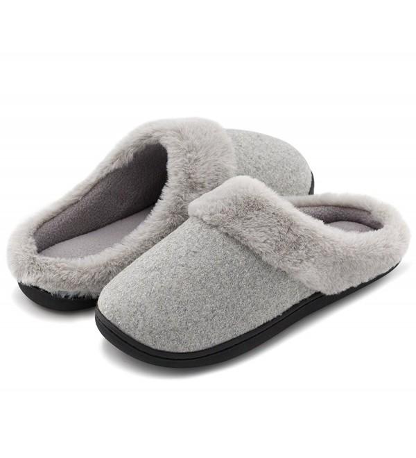 HomeIdeas Womens Anti Slip Slippers Breathable
