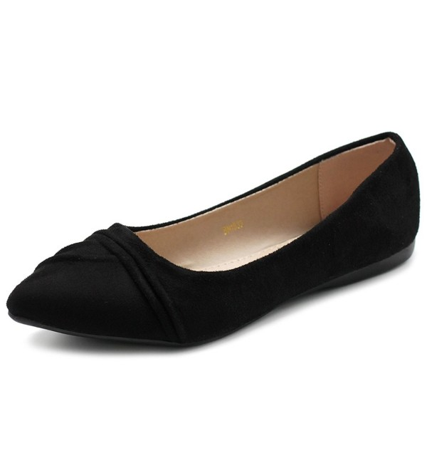 Ollio Womens Pleated Pointed 1BN1833