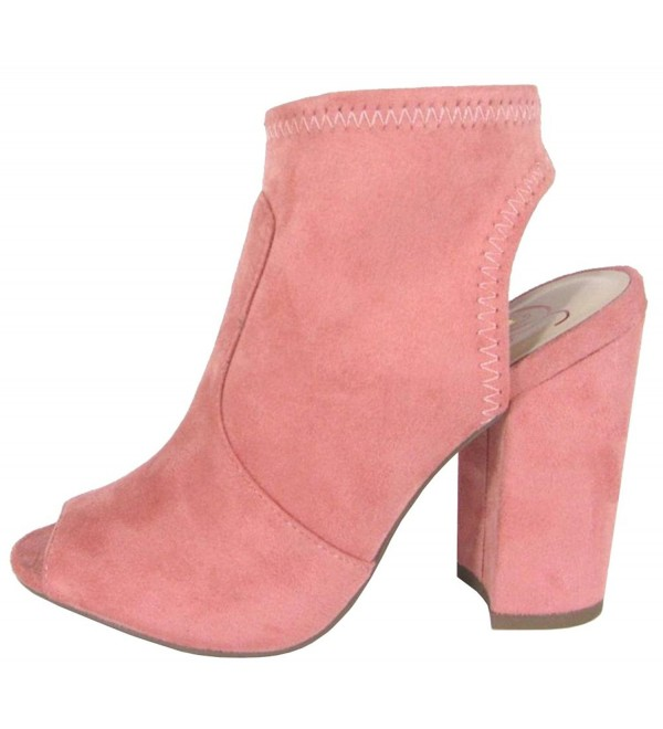 Delicious Womens Stretch Bootie Salmon