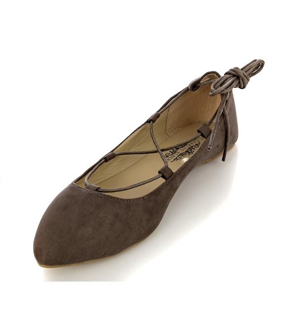 Charles Albert Womens Pointed Toe Ballet