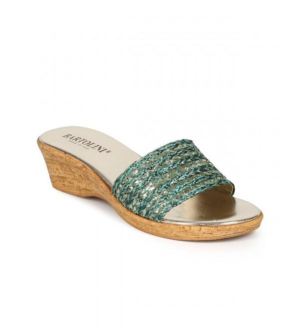 Bartolini Glitter Espadrille Slipper Sandal