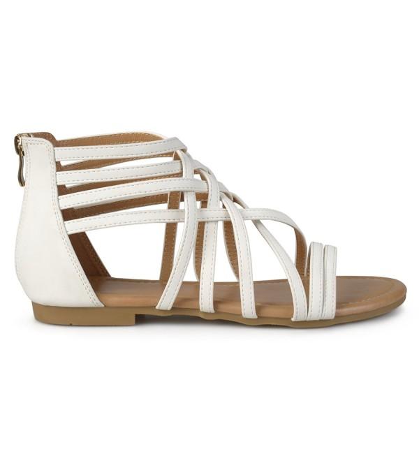Brinley Co Strappy Gladiator Sandals