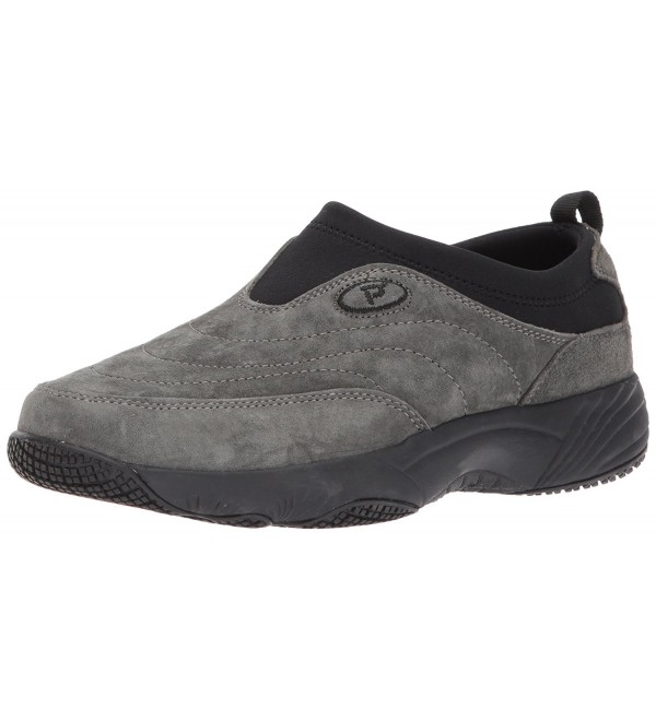 Propet Womens Walking Pewter Suede