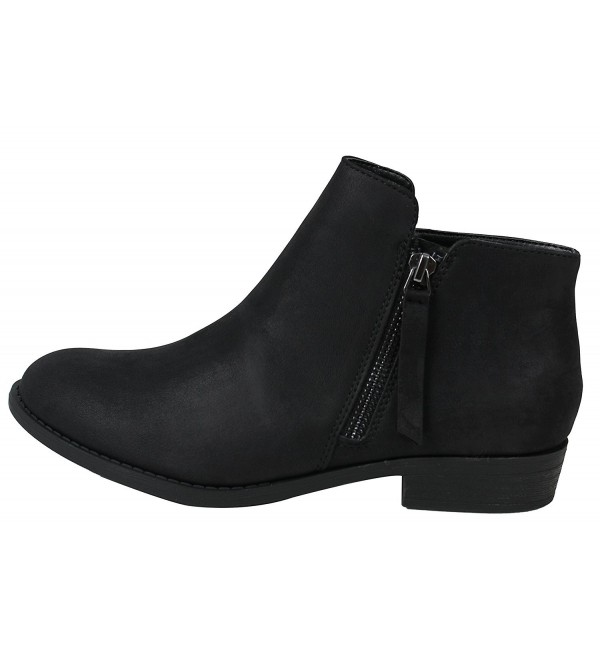 a2f798e9eb7 ... Toe Zipper Tassel Low Heel Ankle Boot - Black - CQ1855GDG8C. On sale!  New. City Classified Womens Closed Zipper