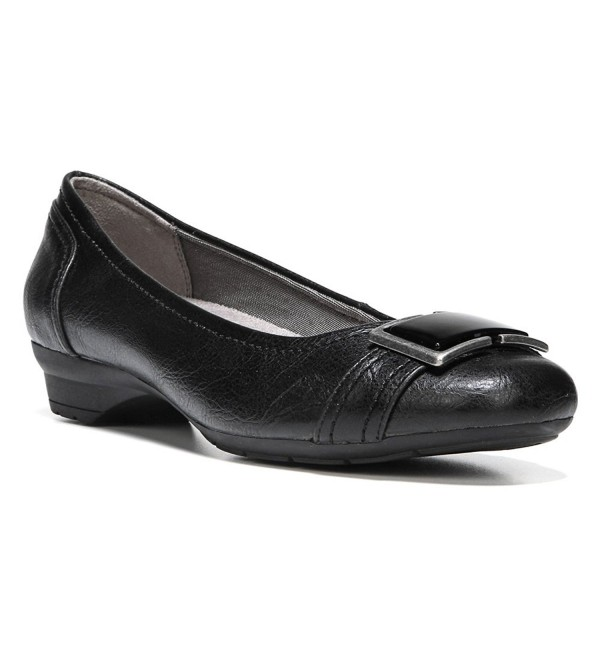 LifeStride Womens Uno Black Flat